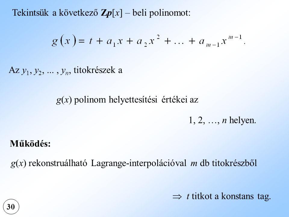 Tekintsük a következő Zp[x] – beli polinomot: